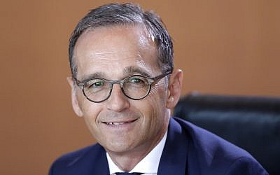 German Foreign Minister Heiko Maas seen prior to the weekly cabinet meeting at the chancellery in Berlin, Germany, on July 18, 2018. (AP/Ferdinand Ostrop)