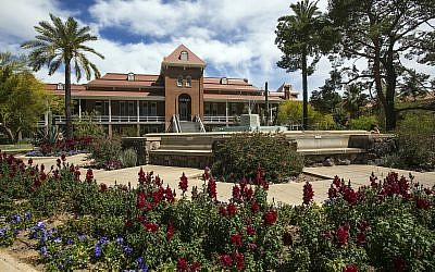 This photo from April 6, 2017, shows Old Main on the University of Arizona campus in Tucson, Arizona. (Ron Medvescek/Arizona Daily Star via AP)