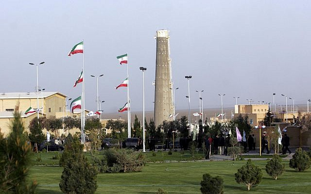 FILE: Iran's nuclear enrichment facility in Natanz, 300 kilometers (186 miles) south of the capital Tehran, on April 9, 2007. (Hasan Sarbakhshian/AP)