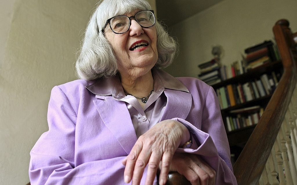 Author Cynthia Ozick poses for a portrait at her home in New Rochelle, Wednesday, April 23, 2008. (AP Photo/Kathy Willens)