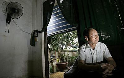 Former Hoa Lo Prison Jailor Tran Trong Duyet is seen in his house in Hai Phong,Vietnam, Friday, June 27, 2008. (AP Photo/Chitose Suzuki)