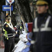Illustrative: Taiwanese police officers in Taipei, March 26, 2009. (AP Photo/Wally Santana)