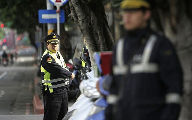 Illustrative: Taiwanese police officers in Taipei, March 26, 2009. (AP Photo/Wally Santana)
