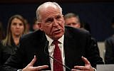 Former CIA Director John Brennan testifies on Capitol Hill in Washington, May 23, 2017, before the House Intelligence Committee Russia Investigation Task Force (AP Photo/Pablo Martinez Monsivais)