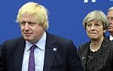 Former British foreign secretary Boris Johnson (L) and Britain's Prime Minister Theresa May in May 2017 (Thierry Charlier/Pool Photo via AP)