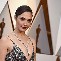 Gal Gadot arrives for the Oscars ceremony at the Dolby Theater in Los Angeles, March 4, 2018, (Jordan Strauss/Invision/AP)