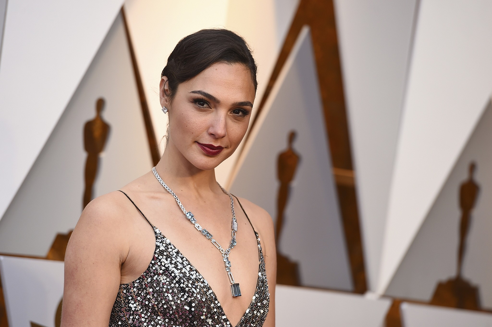 Gal Gadot arrives for the Oscars ceremony at the Dolby Theater in Los Angeles
