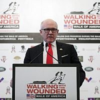 Woody Johnson, United States Ambassador to the United Kingdom, in London, April 11, 2018. (Chris Jackson/Pool Photo via AP)