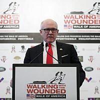 Woody Johnson, United States Ambassador to the United Kingdom, in London, April 11, 2018. (Chris Jackson/Pool Photo via AP)