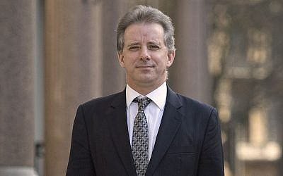 This photo from March 7, 2017, shows Christopher Steele, the former MI6 agent who set up Orbis Business Intelligence and compiled a dossier on Donald Trump, in London. (Victoria Jones/PA via AP)