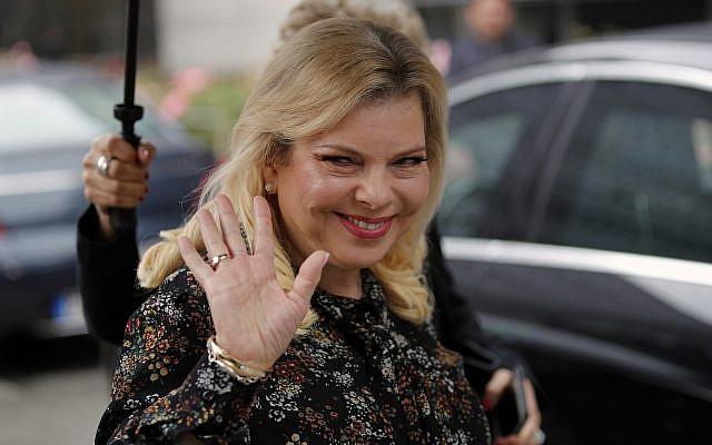 In this June 6, 2018 photo, Israel's Prime Minister's wife Sara Netanyahu arrives for the meeting in Paris, France.  (AP Photo/Francois Mori)