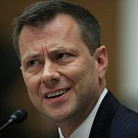 "FBI Deputy Assistant Director Peter Strzok, testifies before a House Judiciary Committee joint hearing on ""oversight of FBI and Department of Justice actions surrounding the 2016 election"" on Capitol Hill in Washington, July 12. (AP Photo/Manuel Balce Ceneta)"