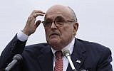 Rudy Giuliani, an attorney for US President Trump, during a campaign event in New Hampshire, in Portsmouth, New Hampshire, August 1, 2018. Charles Krupa/AP)