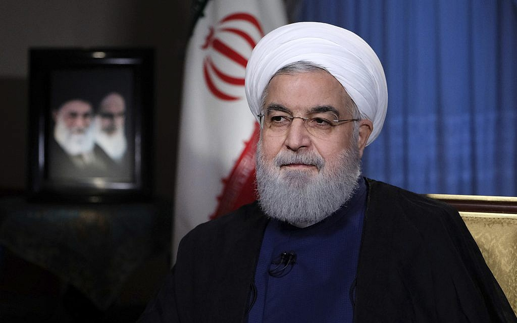 Rouhani accuses US ally in parade attack, blasts American 'aggressiveness' | The Times of Israel