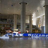 An empty arrivals terminal at Ben-Gurion International Airport on July 23, 2014. (illustrative photo: AP/Dan Balilty)