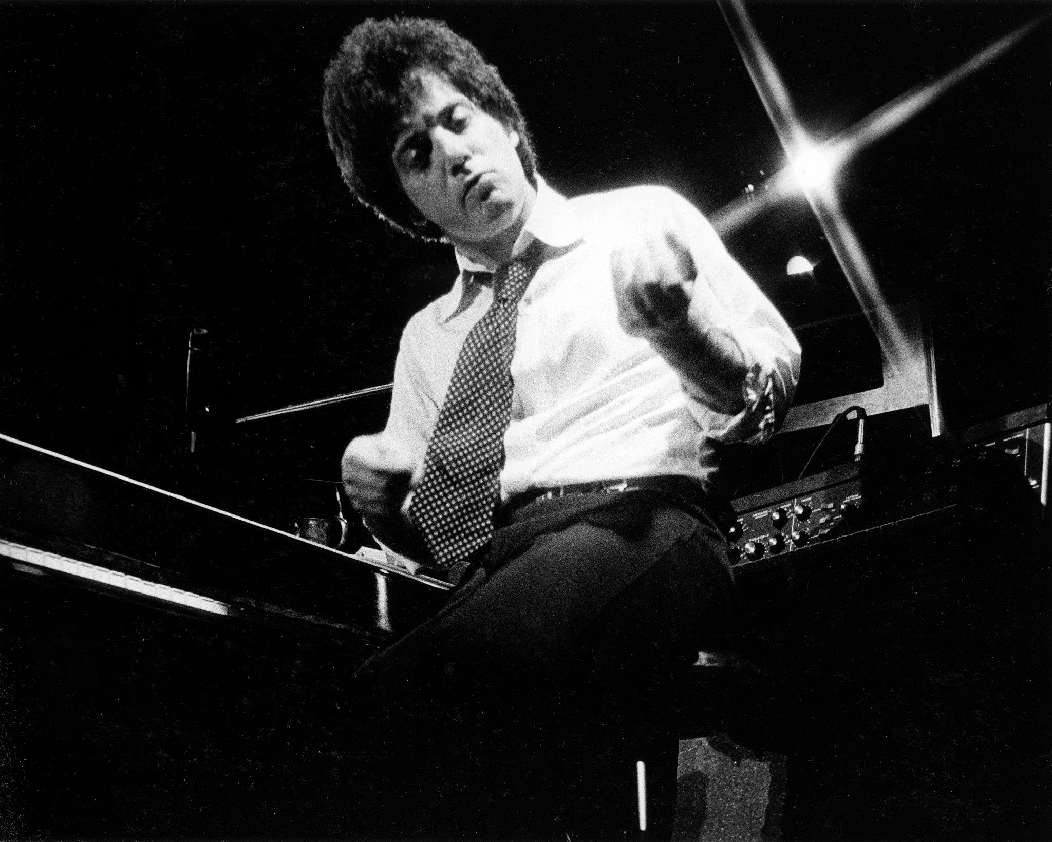 Billy Joel performing at My Father's Place in Long Island, New York. (Steve Rosenfeld)