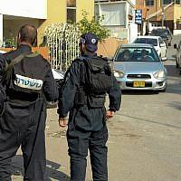 Illustrative -- Israeli police in the Druze town of Abu Snan, Israel, November 15, 2014 (Flash90)