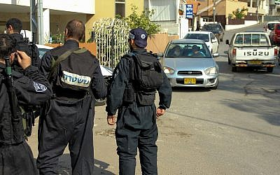 Illustrative photo of  Israeli police. (Flash90)