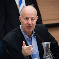 Likud MK Tzachi Hanegbi at a meeting of the Defense and Foreign Affairs Committee in the Knesset. November 19, 2015. (Miriam Alster/Flash90)
