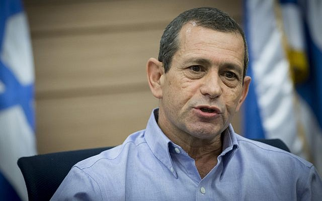 Shin Bet chief Nadav Argaman attends a Knesset Defense and Foreign Affairs Committee meeting on March 20, 2017. (Yonatan Sindel/Flash90)