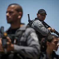 Illustrative image of border police on June 18, 2017. (Hadas Parush/Flash90)