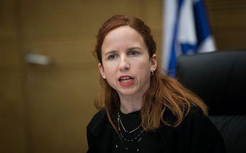 Zionist Union MK Stav Shaffir in the Knesset, February 13, 2018. (Yonatan Sindel/Flash90)