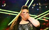 2018 Eurovision winner Netta Barzilai preforms at Tel Aviv's Rabin Square on May 14, 2018. (Tomer Neuberg/Flash90)