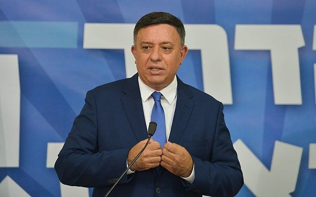 Head of the Labor party Avi Gabbay in Tel Aviv on July 23, 2018. (Flash90)