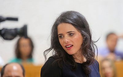 Justice Minister Ayelet Shaked at the Supreme Court in Jerusalem on August 2, 2018. (Marc Israel Sellem/Flash90)