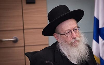 Deputy Health Minister Yaakov Litzman attends a Finance Committee meeting at the Knesset, on August 8, 2018. (Yonatan Sindel/Flash90)