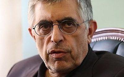Former Tehran mayor Gholamhossein Karbaschi in 2015 (CC-BY Meghdad Madadi/Tasnim/Wikimedia Commons)