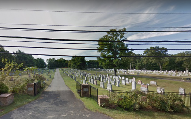 The entrance to the Congregation Agudath Achim Cemetery in Freehold Township, New Jersey. (Google Maps)