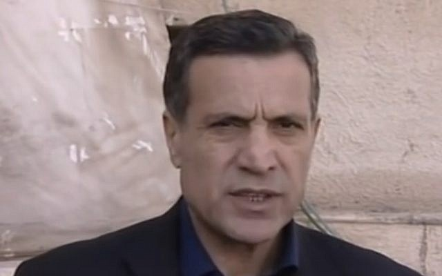 Screen capture from video of Nabil Abu Rudeinah, spokesman for Palestinian Authority President Mahmoud Abbas. (YouTube)
