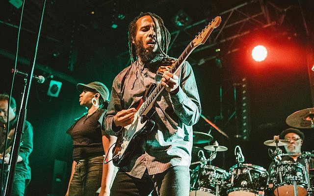 Ziggy Marley performs in Tel Aviv on July 31, 2018. (Orit Pnini)
