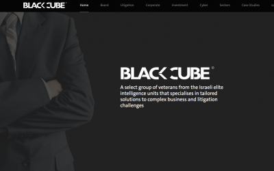 Black Cube's internet homepage (screenshot)