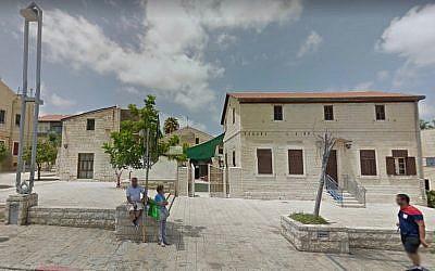 The United States consulate in Haifa. (Screen capture: Google Maps)