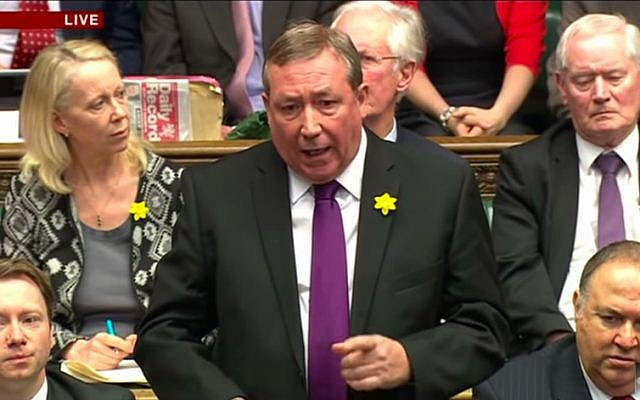 Labour MP Jim Sheridan adresses UK Parliament on March 18, 2015. (Screen capture/YouTube)