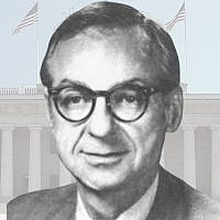 Bob Shamansky brought his Jewish sensibility to Congress. (Illustration by Charles Dunst/JTA; photo: Wikimedia Commons)