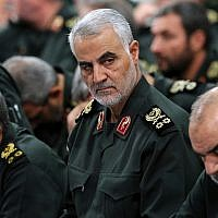 Islamic Revolutionary Guard Corps' Quds force commander Gen. Qassem Soleimani, center, attends a meeting with Supreme Leader Ayatollah Ali Khamenei and Revolutionary Guard commanders in Tehran, Iran, September 18, 2016. (Office of the Iranian Supreme Leader via AP)