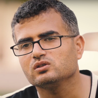 Ahmed Abu Artema, a Palestinian journalist and activist who sparked the 'March of Return' protests, in July 2018. (Screenshot: YouTube)