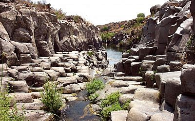Illustrative photo of the Yehudiya River in the Golan Heights. (Phil Sussman /Flash90)