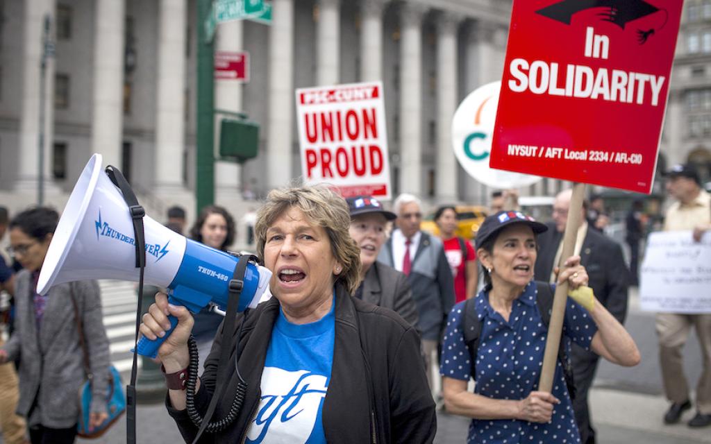 To sway the teachers' union to love Israel, Randi Weingarten