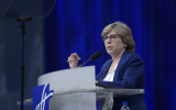Randi Weingarten, president of the American Federation of Teachers. (Courtesy Professional Staff Congress/via JTA)