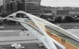 An artist's impression of the Yehudit Bridge in Tel Aviv. (NCArchitects)