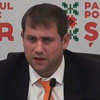 Ilan Shor, the Israel-born mayor of Orhei, Moldova (YouTube screenshot)