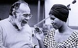 Jerry Wexler and Aretha Franklin in a recording studio in 1960. (GAB Archive/Redferns/via JTA)