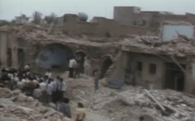 Destroyed houses in Khorramshahr, Iran during the Iran-Iraq War (YouTube screenshot)