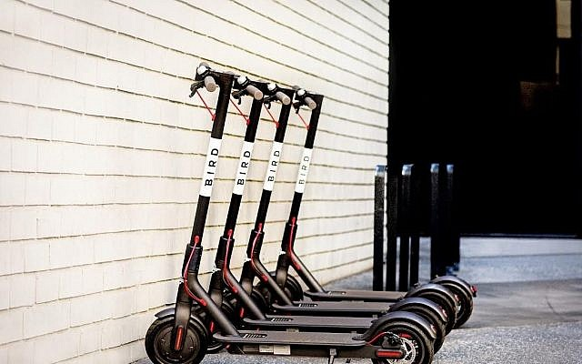 The Bird scooters set to be deployed in Israel (Courtesy)