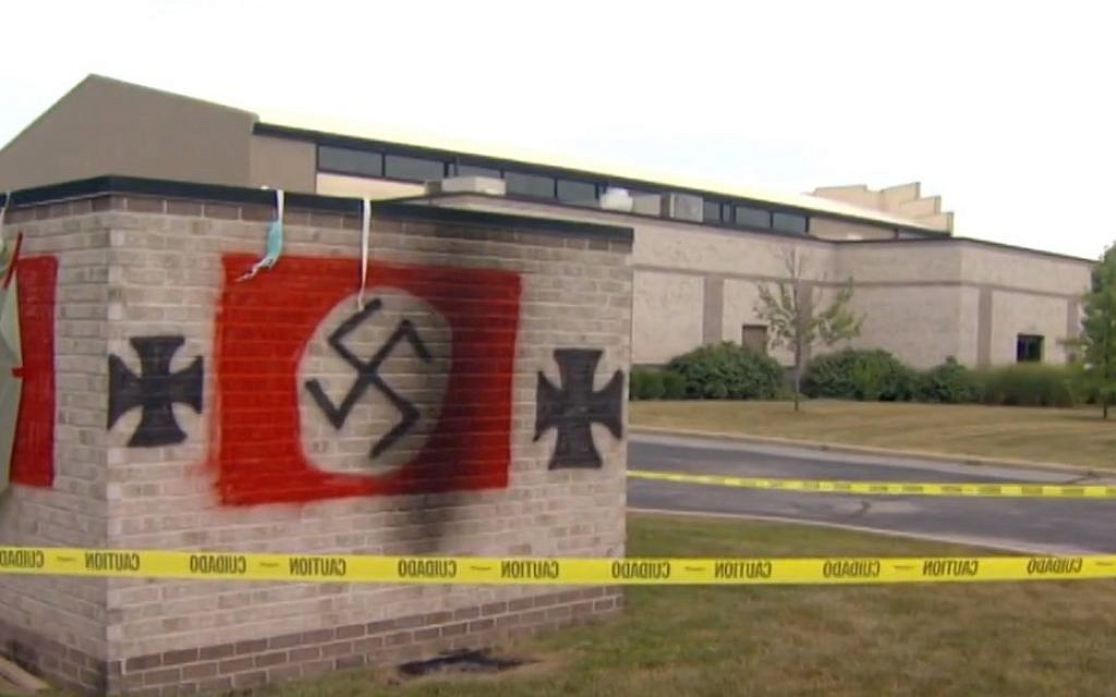 Indiana man gets 3-year prison sentence for Nazi graffiti on synagogue