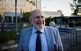 Candidate for Bank of Israel governor Professor Mario Blejer; he was seen outside the Prime minister office in Jerusalem on August 21, 2013, after a vetting committee, known as the Turkel Committee interviewed him for the position for the next Bank of Israel governor already then. (Yonatan Sindel/Flash90